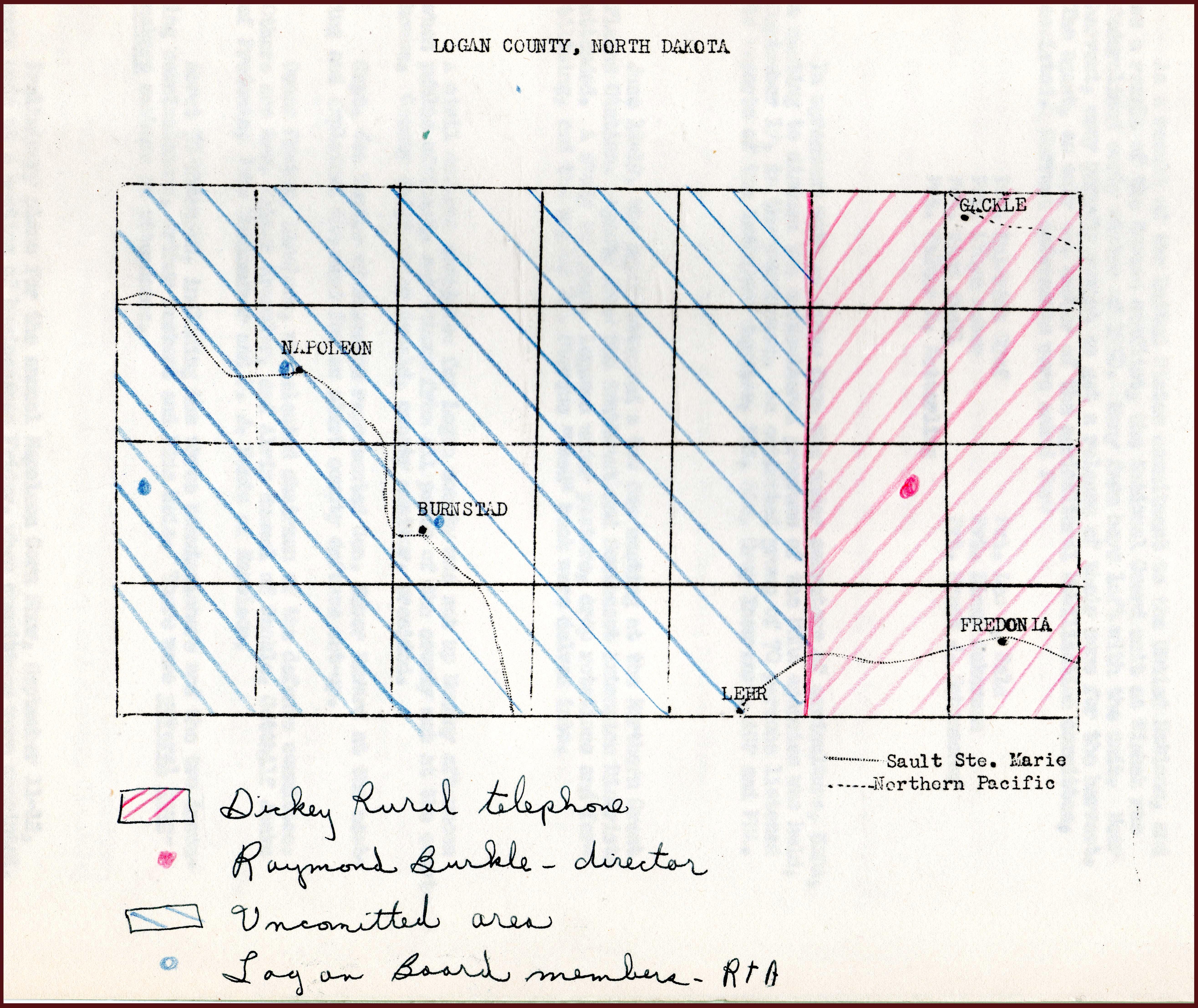 North dakota logan county fredonia - 42 Proposed Rural Telephone Coverage In Logan County